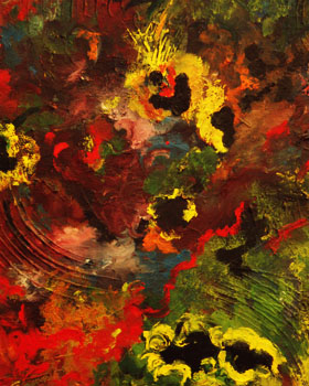 Melissa Ayr Oil Abstract Painting Art Artist Water Garden Detail