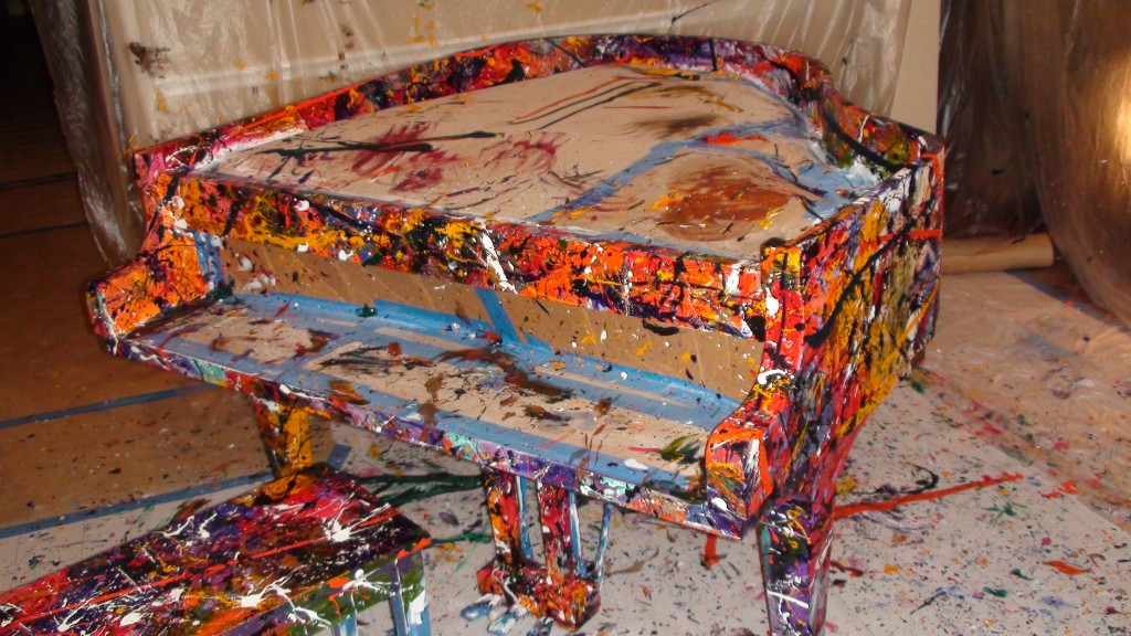Melissa Ayr - Painted Baby Grand Piano