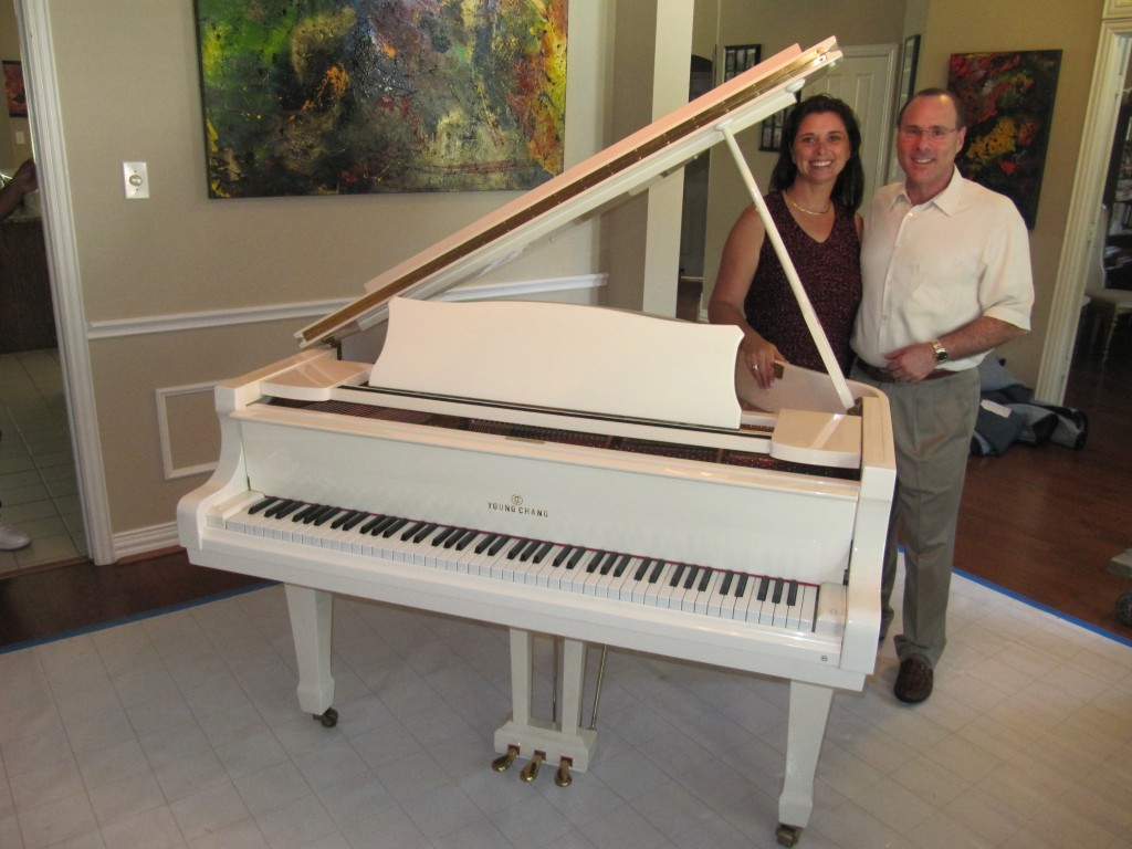 Melissa Ayr and Bob Rosenthal with the Baby Grand Piano
