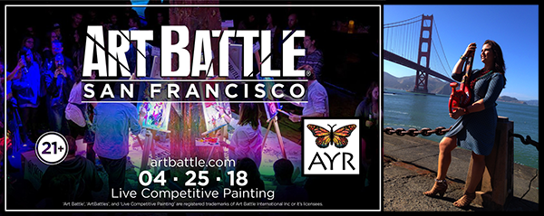 Melissa Ayr Joins in Art Battle San Francisco on Wednesday, April 25th 2018