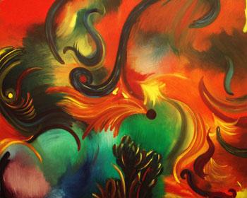 "Melissa Ayr Contemporary Abstract ""Bee Bop"""