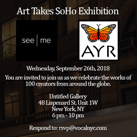 Ayr Exhibition at Art Takes Soho 2018